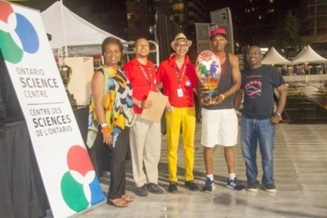 Toronto Caribbean Carnival CEO Denise Herrera-Jackson with the Ontario Science Centre Innovation in Mas' ...