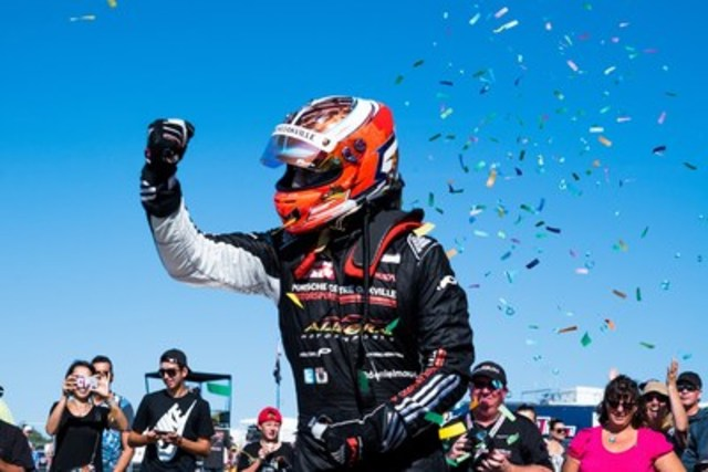 Daniel Morad clinched his first Platinum Cup Championship in the No. 17 Porsche Centre Oakville/Alegra Motorsports Porsche with a 5 point edge over Scott Hargrove (205 vs. 200). (CNW Group/Porsche Cars Canada)