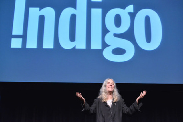Indigo hosts legendary artist Patti Smith at The Design Exchange for a conversation and reading from her book M Train on October 13, 2015. (CNW Group/Indigo Books & Music Inc.)