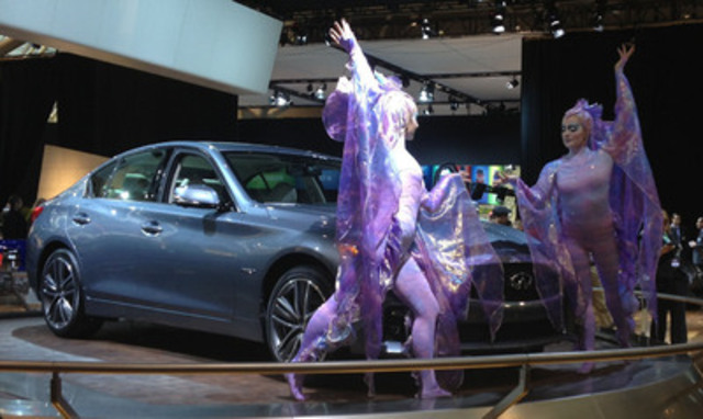 Today, with the help of artists from Cirque du Soleil®, Infiniti Canada unveiled the all-new Q50 at the Canadian International Auto Show. (CNW Group/Infiniti)