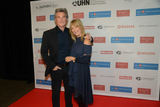 Hollywood It couple Kurt Russell (Backdraft, Poseidon) and Goldie Hawn (The Banger Sisters, Town & Country) show their support at the 11th annual Grand Cru Live Auction benefitting the McEwen Centre for Regenerative Medicine, UHN. (CNW Group/Toronto General & Western Hospital Foundation)