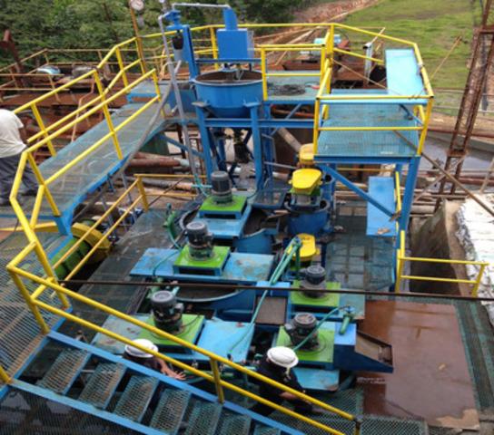 Pilot Plant at Canatuan mine site, Philippines (CNW Group/TVI Pacific Inc.)