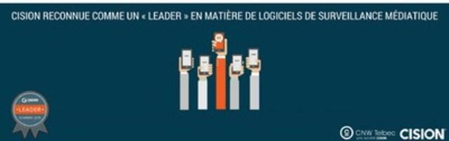 Cision reconnue comme un « Leader » en matière de logiciels de surveillance médiatique (Groupe CNW/Groupe CNW Ltée)