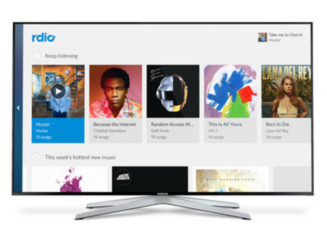 LVL brings Rdio to Amazon Fire TV (CNW Group/LVL Studio)