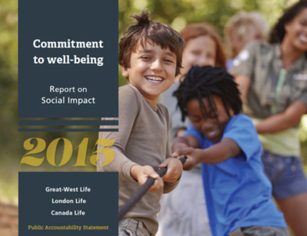 Great-West Life, London Life and Canada Life release 2015 Public Accountability Statement (CNW Group/The Great-West Life Assurance Company)