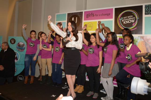 Khloé Kardashian Odom and Girls For A Change inspire and help girls get in the know, change the way society thinks and talks about girls' health and bodies (CNW Group/Kimberly Clark)