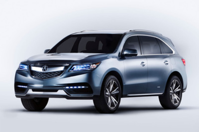 Making its Canadian debut at the Montreal International Auto Show, the 2014 Acura MDX Prototype evokes strength and excitement and once again raises the bar in the luxury SUV category it created. (CNW Group/Acura Canada)
