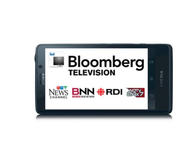 Bloomberg est maintenant disponible sur la Télé mobile de Bell, devenant ainsi la 30e chaîne en direct offerte. (Groupe CNW/Bell Canada)