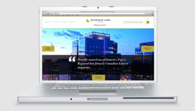 McKenzie Lake launched a new, client-friendly corporate website this week at www.mckenzielake.com. (CNW Group/McKenzie Lake LLP)