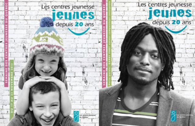 L'auteur-compositeur-interprète s'associe à la Semaine des centres jeunesse du Québec qui se déroule du 17 au 23 novembre 2013 (Groupe CNW/Association des centres jeunesse du Québec (ACJQ))