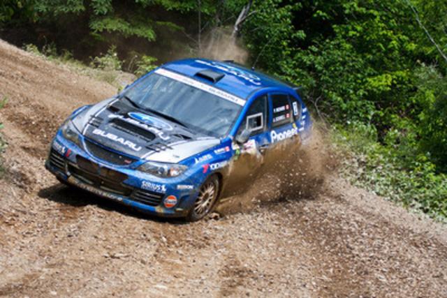 L'Équipe de rallye Subaru Canada se classe en deuxième place au Rallye Baie-des-Chaleurs. www.worldrallysport.com (Groupe CNW/Subaru Canada Inc.)