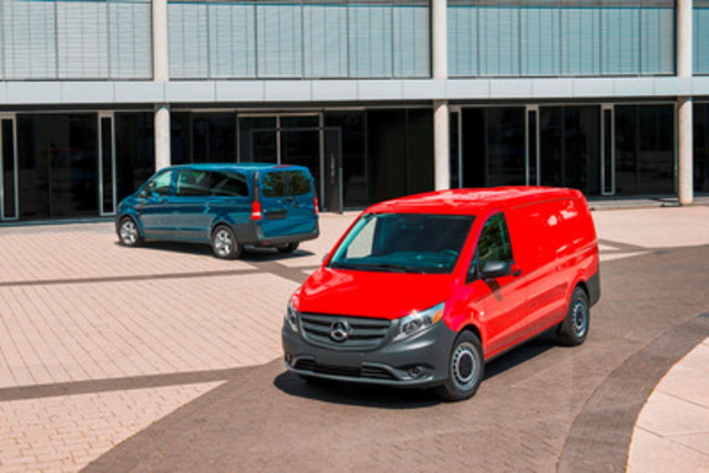 Mercedes-Benz Metris mid-size commercial van makes its debut at NTEA Work Truck Show (CNW Group/Mercedes-Benz ...