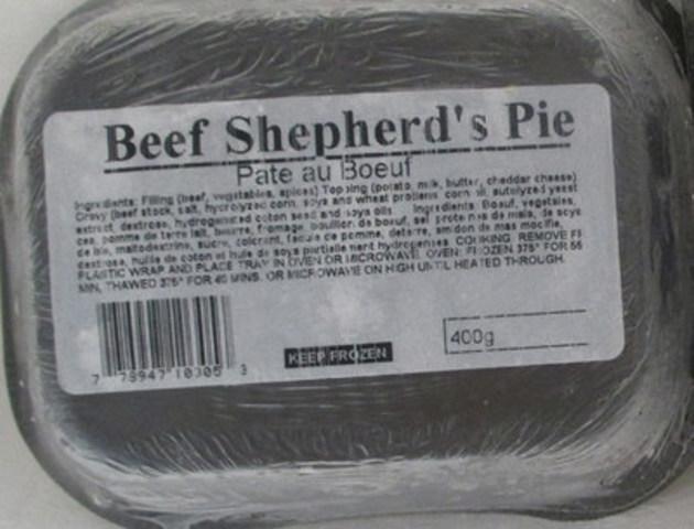 Pâté au Bœuf - 400 gramme (Groupe CNW/Agence canadienne d'inspection des aliments)