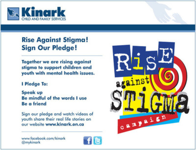 Rise Against Stigma! Sign Our Pledge! (CNW Group/Kinark Child and Family Services)