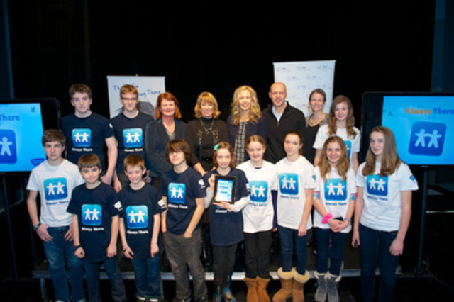 "Kids Help Phone today unveiled Canada's first ever mobile app connecting youth to professional help and support from any location in Canada in the presence of The Honourable Laurel Broten. Being there through technology is an organizational priority, and the ""Always There"" app was made possible with financial assistance from Bell Let's Talk, The Jack Project and from other Kids Help Phone donors. (CNW Group/Kids Help Phone)"
