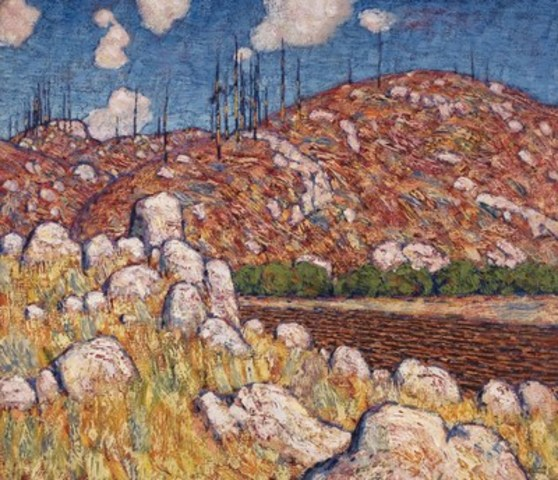 Three important works by Group of Seven founder Lawren Harris will hit the auction block in Heffel's spring live sale, including major canvas, Laurentian Landscape, a foundation piece for the Group of Seven (estimate: $1,200,000 - 1,600,000) (CNW Group/Heffel Gallery Limited)