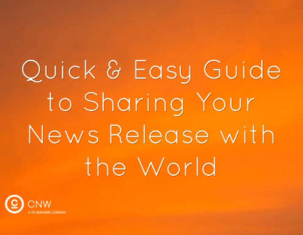 How to get your news releases from your inbox to the world. (CNW Group/Canada NewsWire Ltd.)