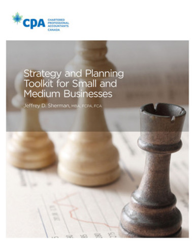 "A new publication from the Chartered Professional Accountants of Canada helps Canadian business owners develop an effective business strategy. Author Jeffrey D. Sherman states: ""It is meaningless to talk about great execution without a great strategy. To execute the right things, you need a great strategy."" The Strategy and Planning Toolkit for Small and Medium Businesses can be obtained by visiting CPACanada.ca/SPTSMB. (CNW Group/CPA Canada)"