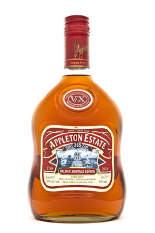 Marking a shared 265th anniversary with the historically significant city of Halifax, Nova Scotia, iconic rum distiller Appleton Estate Jamaica Rum debuts its limited edition, specially designed Halifax Heritage label on bottles of its V/X expression. (CNW Group/Appleton Estate Jamaica Rum)