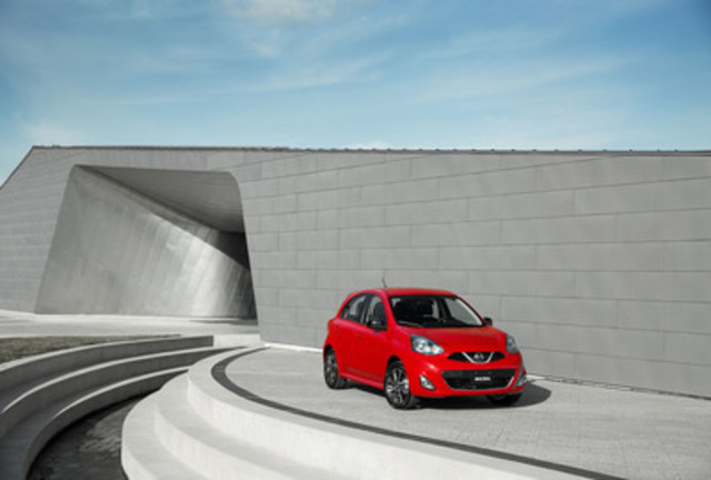 The all-new 2015 Nissan Micra will feature a starting Manufacturer's Suggested Retail Price (MSRP) of just $9,998 CDN when it goes on sale this spring, making it Canada's lowest MSRP (CNW Group/Nissan Canada Inc.)