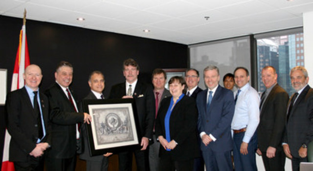 Wounded Warrior Canada and VIA Rail Canada officials celebrated their new partnership today in Montreal (CNW Group/Wounded Warriors Canada)