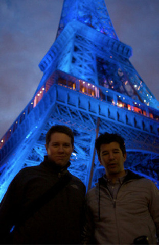 Co-Founders Garrett Camp and Travis Kalanick first thought of creating Uber in Paris, France in 2008 (CNW Group/Uber Canada)