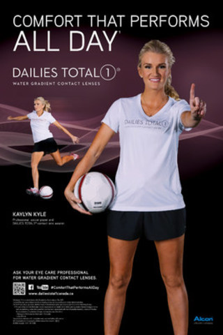 Alcon Canada Partners with Pro Soccer Player Kaylyn Kyle to Show Canadians How to Score Contact Lens Comfort that Performs All Day (CNW Group/Alcon Canada)