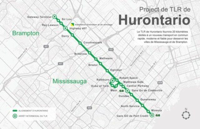 Projet de TLR Hurontario (Groupe CNW/Infrastructure Ontario)