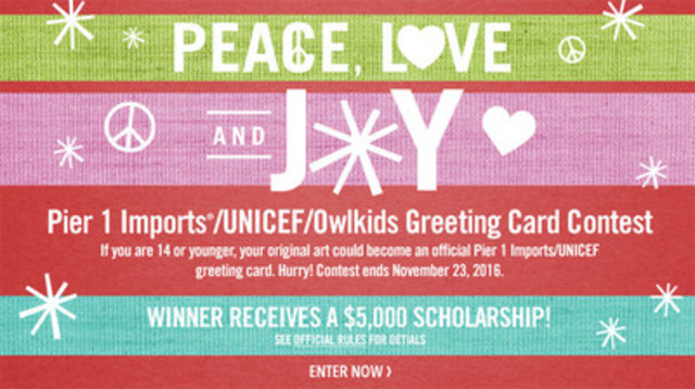 Showcase your creativity to win a $5,000 scholarship while supporting UNICEF's global work for children (CNW Group/UNICEF Canada)