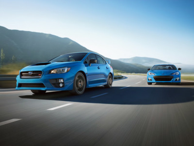 A special edition Hyper Blue Subaru BRZ and WRX STI, named Hikari Edition, will be available in limited quantities of 100 and 200 units, respectively. (CNW Group/Subaru Canada Inc.)