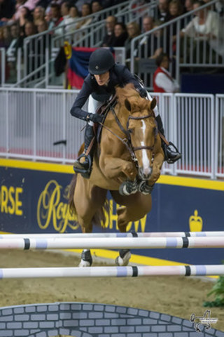 Jessica Springsteen of the United States and Tiger Lily jumped to third place in the $50,000 Weston Canadian Open at the CSI4*-W Royal Horse Show. Photo by Ben Radvanyi Photography (CNW Group/Royal Agricultural Winter Fair)
