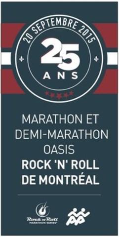 Les oriflammes du Marathon en vente pour amasser des fonds pour Tel-jeunes (Groupe CNW/Marathon Oasis Rock'n'Roll de Montréal)