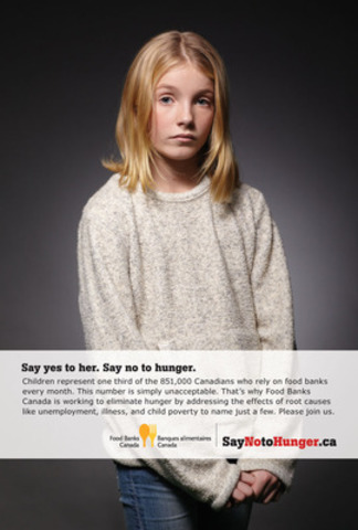 Say No to Hunger Print Ad (CNW Group/Food Banks Canada)