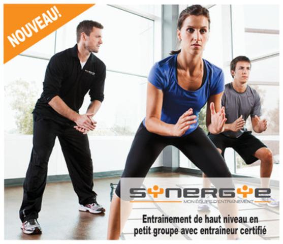 Lancement Synergie, en exclusivité chez Énergie Cardio - Combinant la dynamique d'équipe et le soutien d'un entraîneur certifié, Synergie s'inspire de l'entraînement sportif de haut niveau, adapté en intensité afin d'éveiller l'athlète en vous. Les séances d'entraînement en équipe encouragent le dépassement de soi. (Groupe CNW/Energie Cardio)