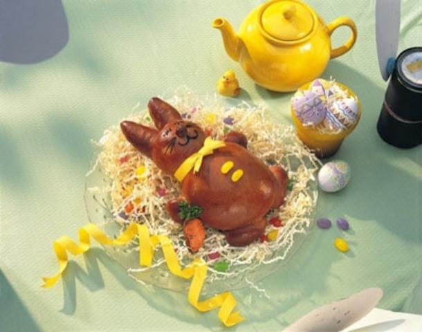 Pain au chocolat en forme de lapin (Groupe CNW/Producteurs d'oeufs du Canada)