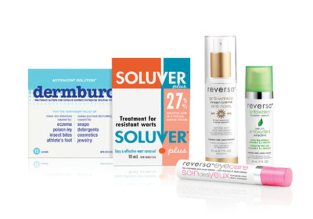 Dermtek Pharma brands (CNW Group/Dermtek Pharma)