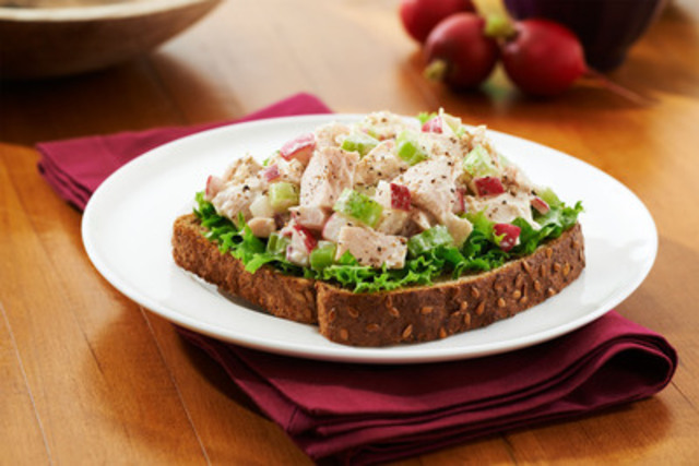 Crunchy Tuna and Radish Salad Sandwich - Start the New Year off right with this Crunchy Tuna and Radish Salad Sandwich (CNW Group/Canada Bread)