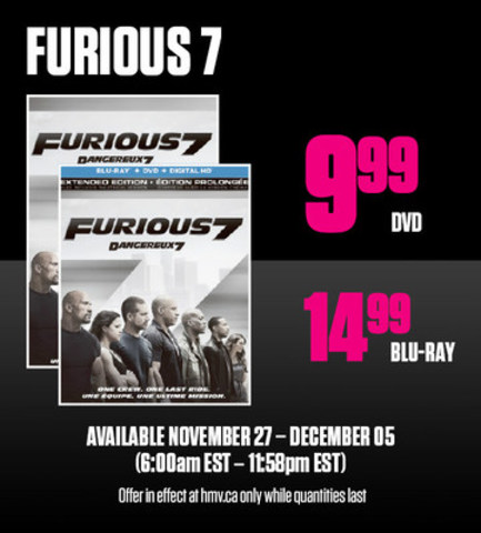 DVDs from $9.99 (CNW Group/hmv Canada)