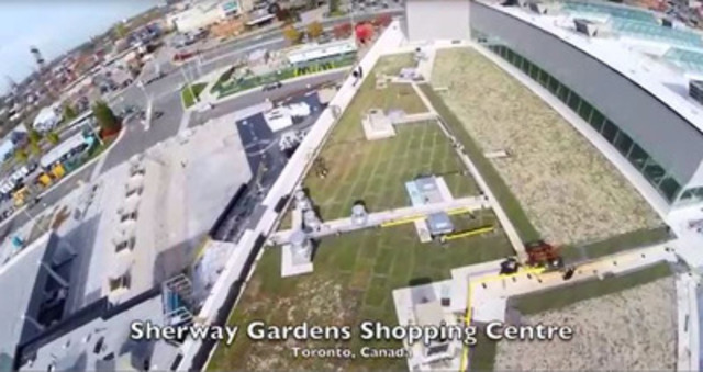 Video: Sherway is greening the grey with the installation of a 9500 sqm Xeroflor green roof.