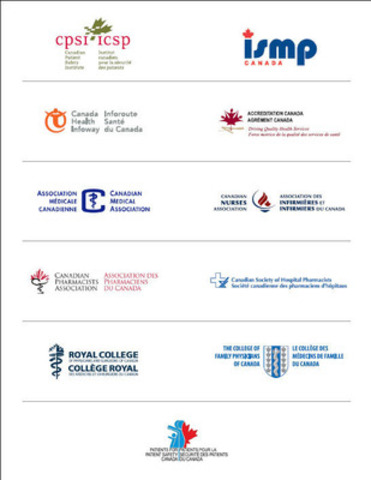 Medication safety movement growing - 11 Canadian organizations committed to improving medication safety. (CNW Group/Canadian Patient Safety Institute)