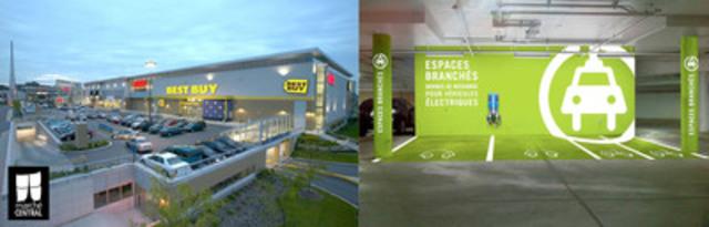 La zone de rechargement est située dans le stationnement intérieur du Marché Central, près des magasins Brick, Best Buy et des Cinémas Guzzo. (Groupe CNW/Marché Central)