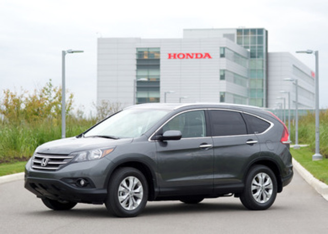 """All new for 2012, the fourth-generation Honda CR-V compact SUV features an upscale styling direction, enhanced fuel efficiency, and added features and functionality as part of a """"total package"""" approach to provide Canadians with best-in-class value. CR-V is scheduled to go on sale in Canada by mid-January 2012 with pricing announced later this year. All CR-Vs for the Canadian market will be built at the Honda of Canada Mfg. assembly facility in Alliston, Ontario. (CNW Group/Honda Canada Inc.)"""