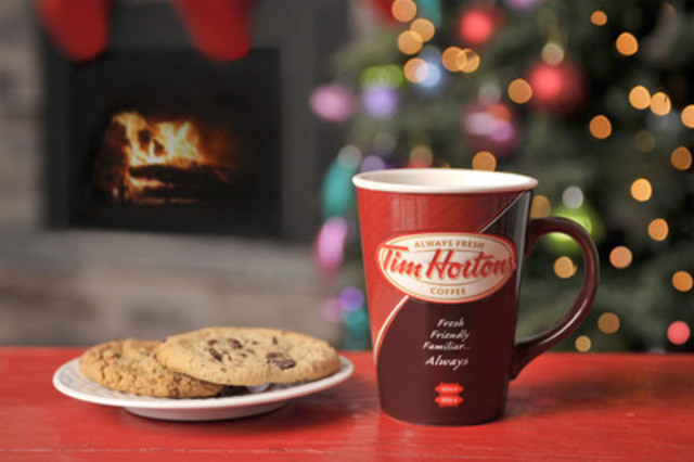 New limited edition Tim Hortons ceramic coffee mug is the perfect gift for the coffee lover in your life. Available now for $7.99 and includes a 2oz pouch of Tim Hortons coffee. (CNW Group/Tim Hortons Inc.)