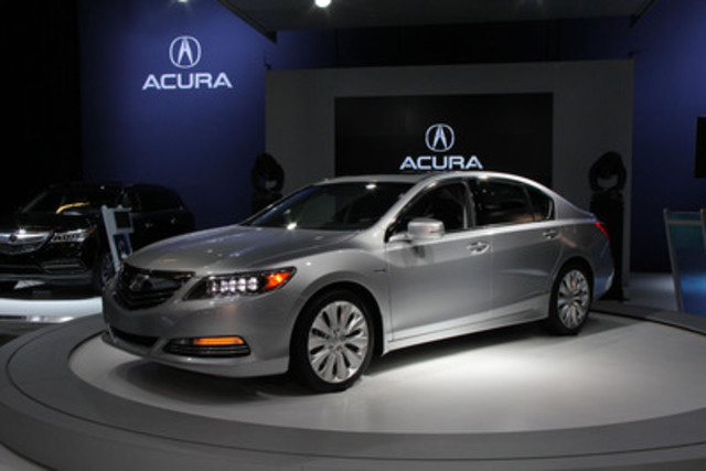 The new pinnacle of Acura's luxury-performance sedan lineup made its Canadian debut today at the Montreal International Auto Show, the 2014 Acura RLX Sport Hybrid SH-AWD. (CNW Group/Acura Canada)