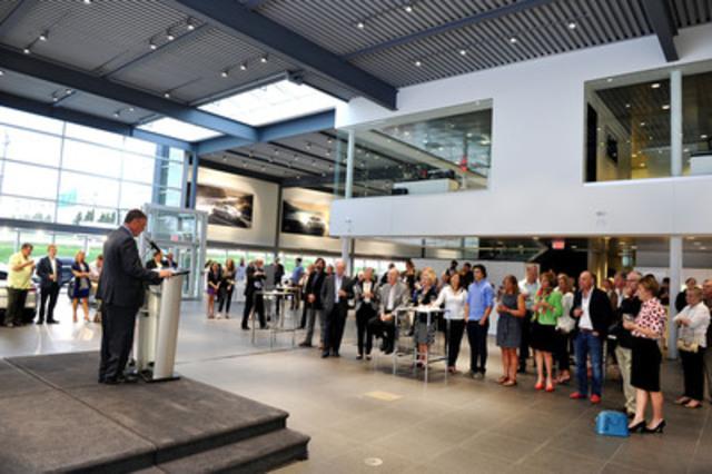 Stephen W. Sisokin, President of Howard, Barclay & Associates addresses guest's at his company's 20th anniversary celebration. (CNW Group/Howard, Barclay & Associates Ltd.)