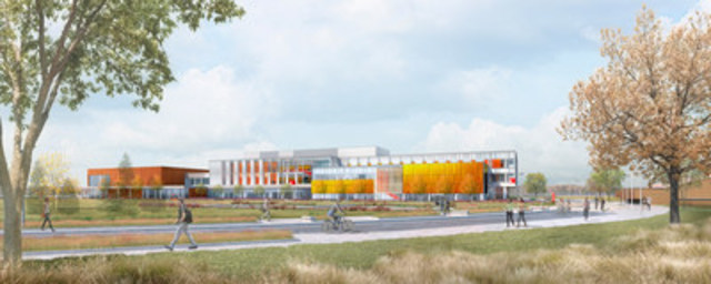 The Seneca College King Campus Expansion project is a 200,000 square foot facility that will provide new classrooms and amenity spaces to the campus in 2018. (CNW Group/Infrastructure Ontario)