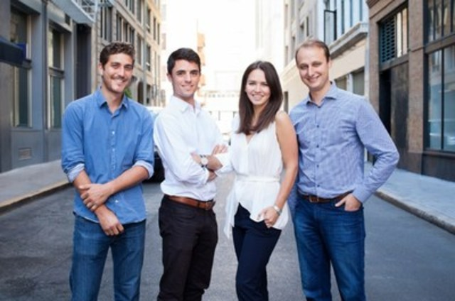 BONE Structure Launches California office (Left to right: Guillaume Bazouin, Charles Bovet, Gabrielle Labrosse, Jorge Gonzalez) (CNW Group/BONE Structure)