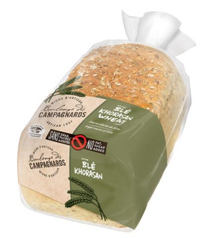 Miche de blé khorasan Boulange des CampagnardsMC sans gras, sans sucres ajoutés (Groupe CNW/Boulange des campagnards)
