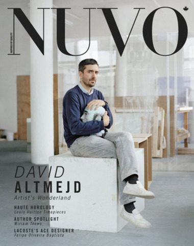 For Montreal-born artist David Altmejd, fantasy and reality are the undercurrents of his work. Recognized for his large-scale sculptures of anthropomorphic figures, Altmejd has represented Canada at the Venice Biennale. The spring 2012 issue of NUVO, with David Altmejd on the cover, is on newsstands February 27. www.nuvomagazine.com (CNW Group/NUVO Magazine Ltd.)