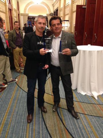 Winners Brad Diamond and Russ Bond both of MOTORING 2013. (CNW Group/Bradford Productions)